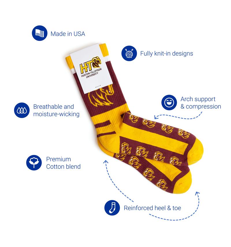 Cotton Athletic Custom Socks