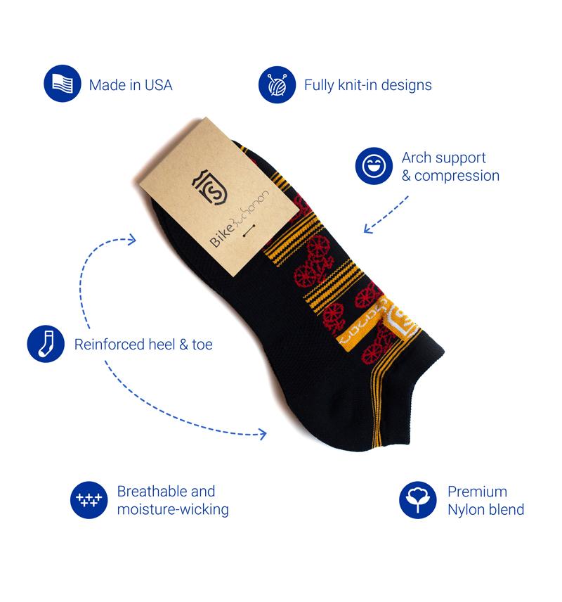 Custom Nylon Ankle Socks