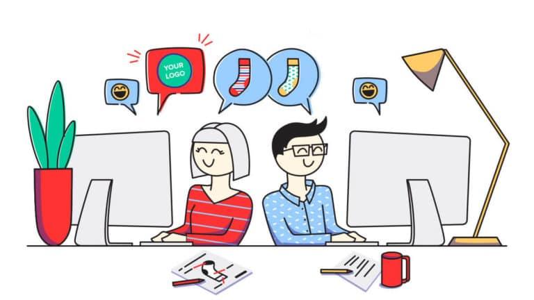 custom sock designers - Graphic design