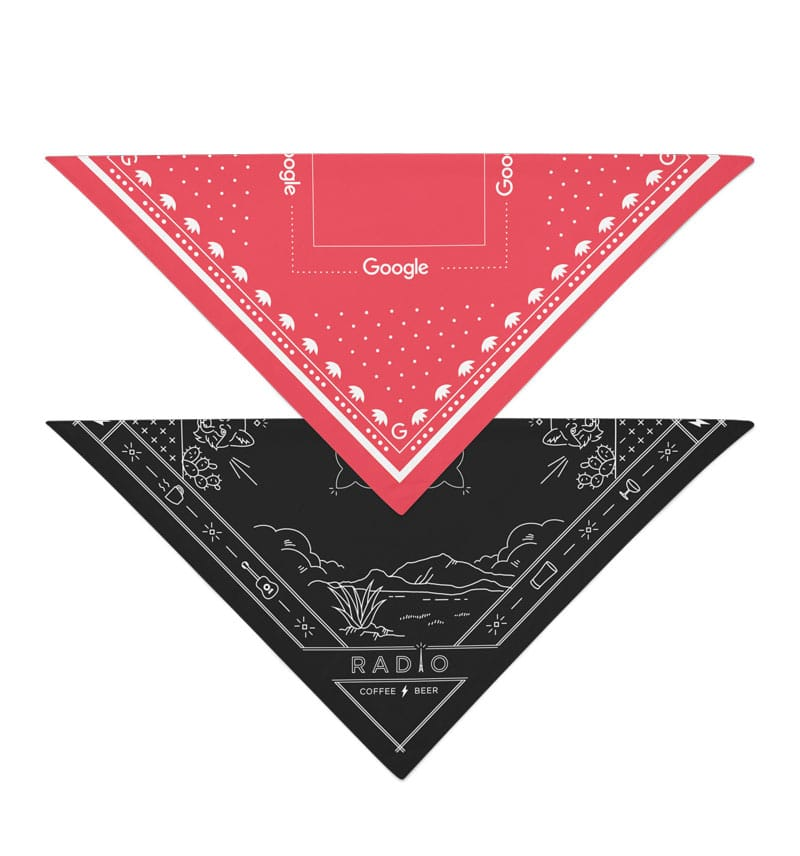 Bandanas with Logo Red and Black