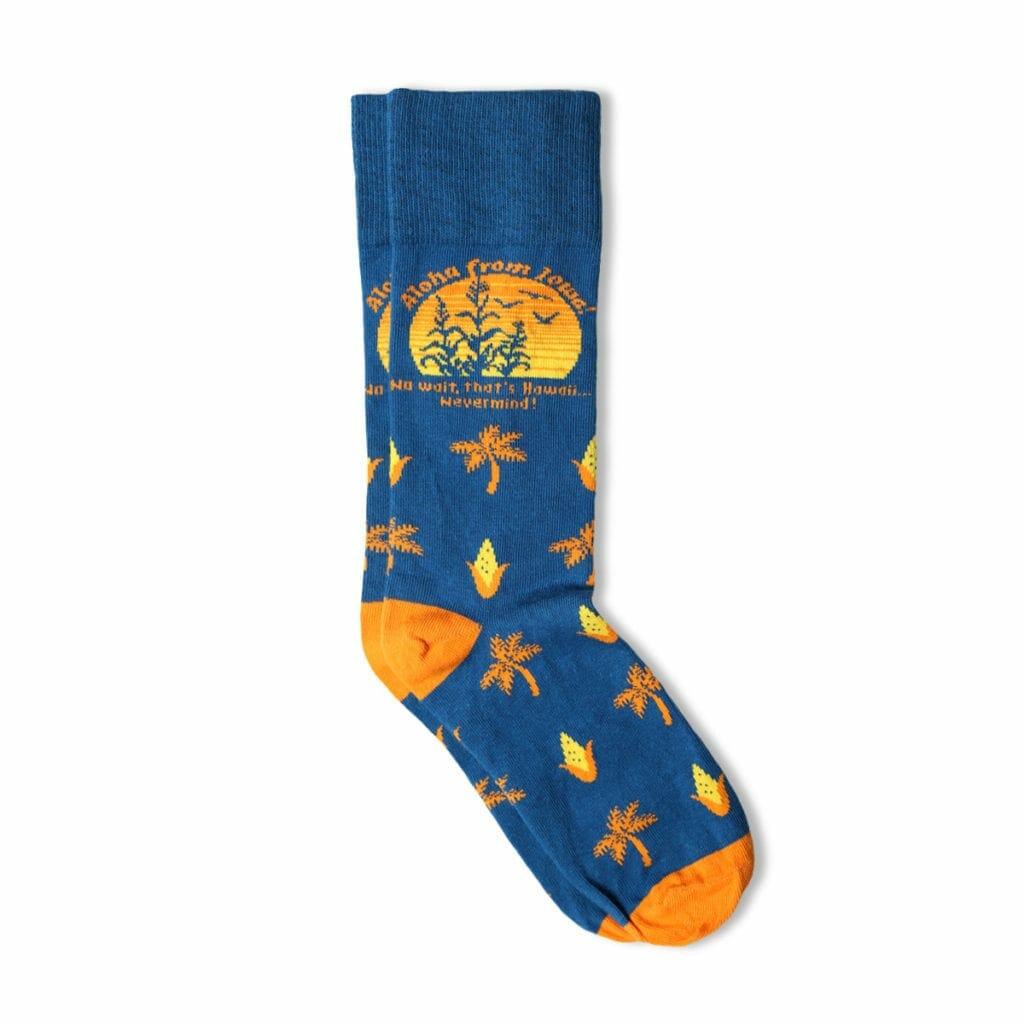 Bozz Prints Aloha From Iowa Custom Socks